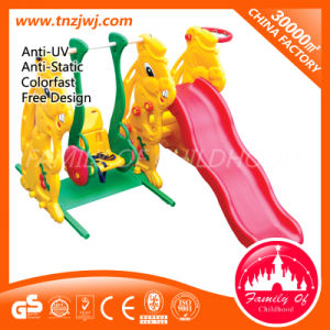 Combined Kids Swing Plastic Small Slide for Sale pictures & photos