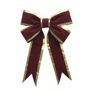 Gaint Velvet Charismas Gift Bows with Trim (CBB-1102) pictures & photos