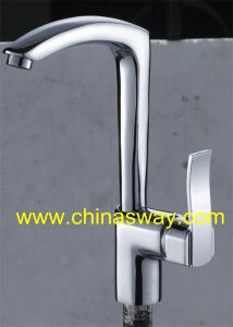 Kitchen Sink Mixer, with Brass Movable Spout, Chrome (SW-09569) pictures & photos