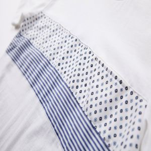 Men′s Casual Shirts Latest New Model Rib Shirts Two Tone T-Shirt Design pictures & photos