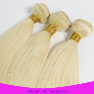 Full Cuticle European 613# Blonde Color Hair Weft pictures & photos