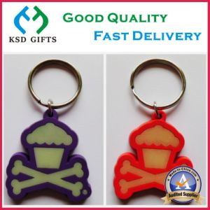 Plastic Glow in Dark PVC Key Ring pictures & photos