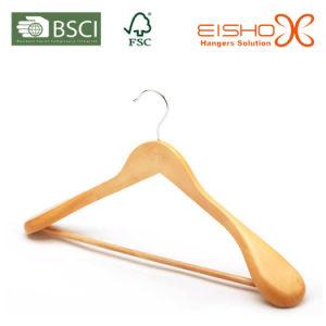 Luxury Style Expanded Shoulder Solid Wooden Suit/Coat Hanger (MC041) pictures & photos