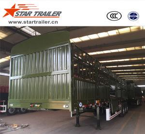 3 Axles Fence Bulk Cargo Semi-Trailer pictures & photos