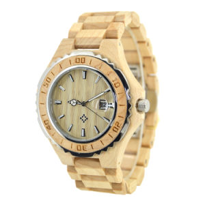 Stainless Steel Wood Grain Quartz Wooden Fashion Watch pictures & photos
