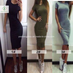 Hot Sale European Fashion Plain Package Hip Sex Women Dress pictures & photos