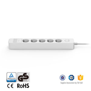 Germany Market Electric Power Bar with 5 EU AC Outlets for Home Appliances and 3 USB Charging Ports for Mobile Phones pictures & photos