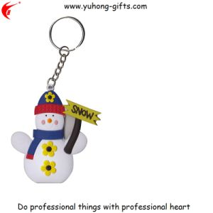 Snowman Fashion Promotional Gifts Soft PVC Rubber Keychain (YH-KC170) pictures & photos