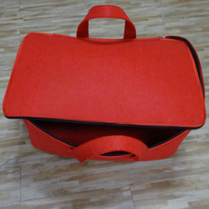Wholesale Large Capacity Red Felt Storage Bag for Goods pictures & photos