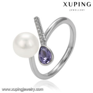 14525 Jewelry Fashion Xuping New Arrival Platinum Red Stone Crystal Pearl Ring pictures & photos
