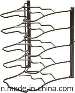 5 Tier Metal Wire Rack for Kitchenware Display Storage Shelf pictures & photos