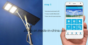 Android / Ios APP Control All in One 80W Solar LED Street Light