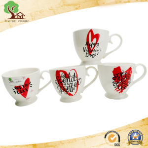 New Design 15 Oz Ceramic Mug with Footed Tumbler for European and American Style pictures & photos