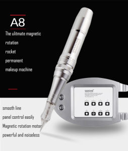 Goochie A8 Digital Rocket Permanent Makeup Machine Tattoo Kit with Cartridge Needle pictures & photos