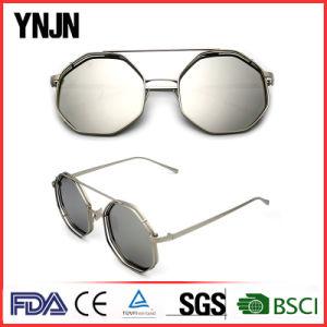 Ynjn Unisex Mirror Lenses Irregular Octagon Sunglasses pictures & photos