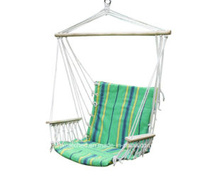 Padded Cotton Rope Hanging Hammock Swing Chair with Arm Rest pictures & photos