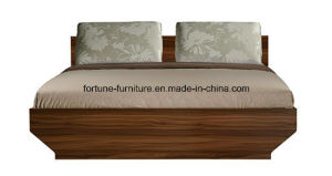 Modern Wooden Walnut & White Double Bed (B1021-1.8) pictures & photos