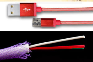 Wholesale 1m Braided Fishing Net Lightning USB Data Cable pictures & photos