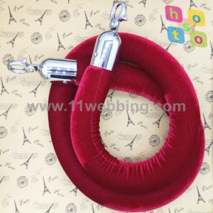 Economy Ropes Polyester Twisted Velvet Rope for Crowd Control Post pictures & photos