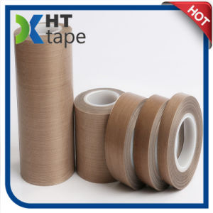0.13mm Thickness Silicone Adhesive PTFE Teflon Tape pictures & photos