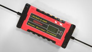 6A 12V/24V Smart Battery Charger with LCD Dipslay pictures & photos