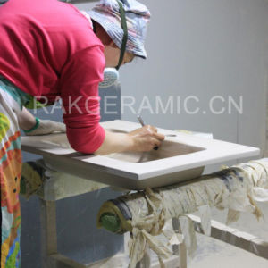 Sanitary Ware Cabinet Basin Ceramic Wash Basin Featheradge Basin (LINDA-90R) pictures & photos