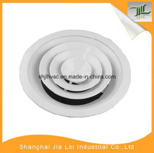 White Color Aluminum Ceiling Round Supply Air Diffuser