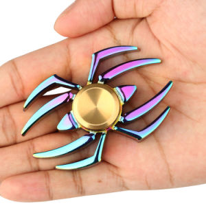 Colorful Rainbow Spider Fidget Hand Spinner Fingers Gyro Toy pictures & photos