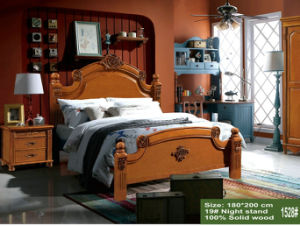 New Arrival Ikea Wooden Bedroom Set for Bedroom Furniture (1528#) pictures & photos