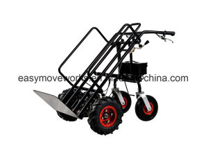 Vertical Fold Pallet Platform Electric Drive Cart Electrical Trolley for Gardening Architecture Warehousing Agriculture pictures & photos