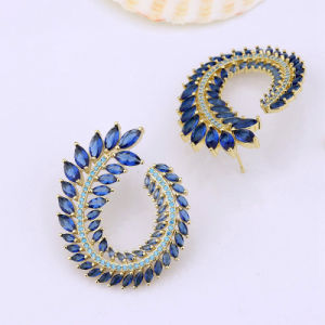 Beautiful Design Hot Sell Brazil Ear Cuff Brass Women Crystal Earrings Wholesale pictures & photos