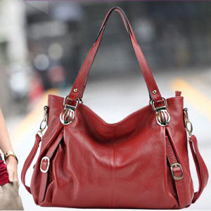 Women Handbag 100% Genuine Leather Large Size Tote Shoulder Bag Emg4874 pictures & photos