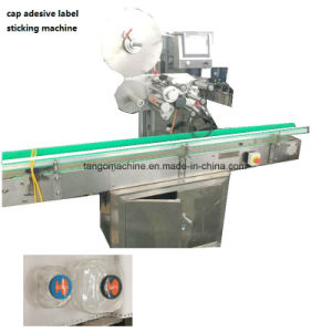 One Side Label Adhesive Sticking Machine for Cap Top Label pictures & photos