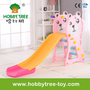 2017 Bear Style Cheap Plastic Kids Slide with Ce (HBS17021B)