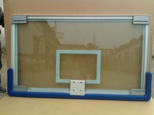 High Quality 72′′*42′′ Tempered Glass Basketball Backboard pictures & photos