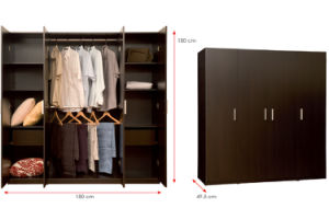 MDF Laminated Wooden Wardrobe (HX-DR1286) pictures & photos