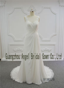 Sheath Style with Chiffon Fabric Fold Sweetheart Neckline Wedding Gown pictures & photos