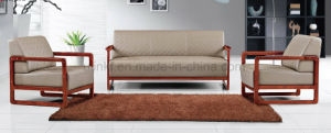 Modern Wooden Furniture Executive Leather Office Sofa (HX-CF008) pictures & photos