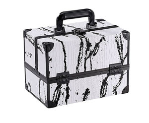 New Design White Cosmetic Travel Carrying Case with Sturdy Black Aluminum Frame pictures & photos