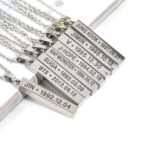 Personalized Custom Engraved Jewelry Fashion Men Square Pendant pictures & photos