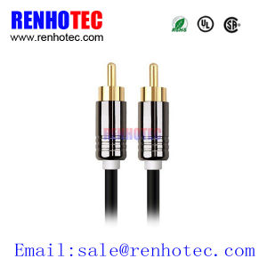 Gold Plated VGA RCA Video AV RCA Cable Plug Connector pictures & photos
