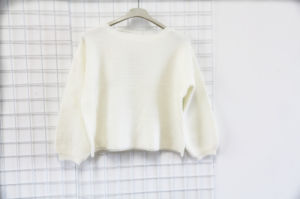 White Round Neck Sweater for Women pictures & photos