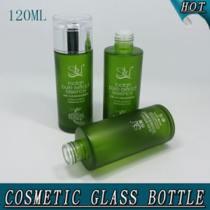 120ml 4oz Green Frosted Glass Water Bottle Facial Toner Bottle pictures & photos