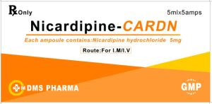 Nicardipine Hydrochloride Injection 5mg/5ml GMP Cetificed pictures & photos