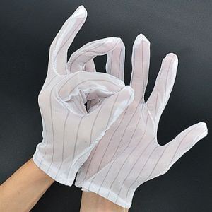 Cleanroom ESD Nylon Working Gloves pictures & photos
