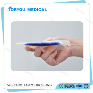 """Antibacterial Dressing Silicone AG Silver Foam Dressing 4"""" X 4"""" pictures & photos"""
