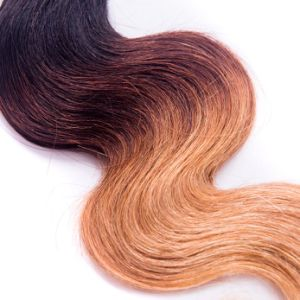 Top 9A Indian Virgin Hair Ombre Hair Extensions 1b/4/27 Ombre Human Hair Bundles 3 PCS Indian Virgin Hair Straight Bundles Weave pictures & photos