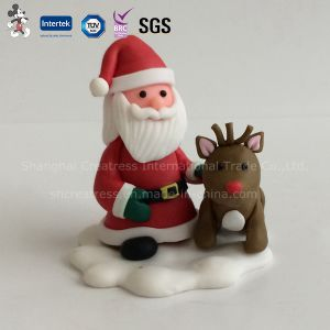 Customized Various Model Polymer Caly Christmas Decoration pictures & photos