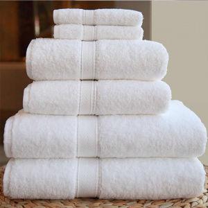 Shanghai DPF Textile Pure Cotton White Towel Set pictures & photos