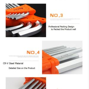 9PCS Hex Key Wrench and Nikle Plated Hex Key Wrench pictures & photos